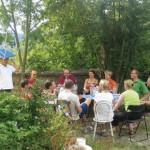 Pause beim Einsicht-Seminar Burg Wahrberg bei Aurach