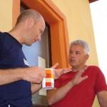 einsichtiges Gespräch beim Einsicht-Seminar Burg Wahrberg bei Aurach